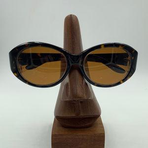 Brooks Brothers Tortoise Oval Oversized Sunglasses